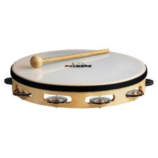 Meinl NINO25 Headed Wood Tambourine, Single Row