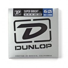 Dunlop DBSBS45125 5-String Set Super Bright Steel Medium Bass Strings (.045-.125)