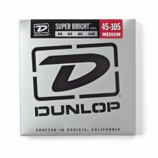 Dunlop DBSBS45105 4-String Set Super Bright Steel Medium Bass Strings (.045-.105)