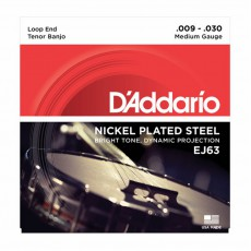 D'Addario EJ63 Nickel Plated Steel Tenor Banjo Strings (.009-.030)