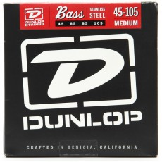 Dunlop DBS45105 4-String Medium Stainless Steel Light To Medium Bass Strings (.045-.105)