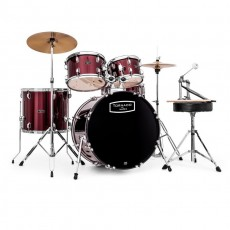 Mapex Tornado 3 Compact Kit in Burgundy Red with Cymbals - TND5844FTC-DR