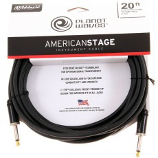 Planet Waves American Stage Instrument Cable - 20' Black