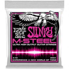 Ernie Ball 2923 M-Steel Super Slinky Light Electric Strings (.009-.042)