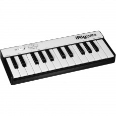 IK Multimedia iRig Keys Mini 25 MIDI keyboard controller for iOS, Android & Mac/PC. Lightning, USB-OTG and USB