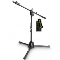 Gravity MS 4222 B - Short Microphone Stand With Folding Tripod Base And 2-Point Adjustment Telescoping Boom