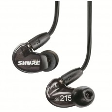 Shure SE215-K Sound Isolating Earphones, with Single Dynamic MicroDriver and Detachable Wireform Cable. Black