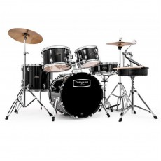 Mapex Tornado 3 Compact Kit with 5 Piece Cymbals - Black