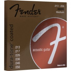 Fender 880M 80/20 Dura-Tone Coated Medium Acoustic Strings (.013-.056)