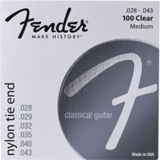 Fender 100 Clear Nylon Tie End Medium Classical Strings (.028-.043)