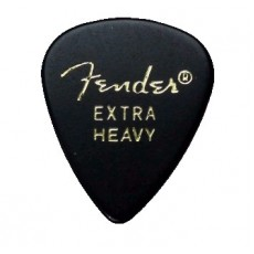 Fender 351 Shape Picks Pack, 1 Gross, Black, Extra Heavy