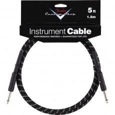 Fender Custom Shop Performance Series Cable, 5', Black Tweed