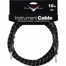 Fender Custom Shop Performance Series Cable - 10' Black Tweed