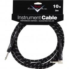 Fender Custom Shop Performance Series Angled Cable - 10' Black Tweed