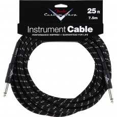 Fender Custom Shop Performance Series Instrument Cable - 25' Black Tweed