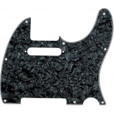 Fender Tele Pickguard, 8 Hole Mount, 4-Ply, Black Pearl