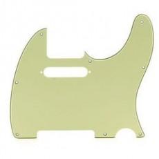 Fender Pickguard, Tele, 8 Hole Mount, 3-Ply, MInt Green
