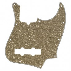 Fender Pickguard, Jazz Bass, 10 Hole Mount, 4-Ply, Aged Glass Sparkle
