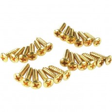Fender Pickguard Mounting Screws Gold x24