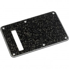Fender Backplate, Strat, 4-Ply, Black Glass Sparkel