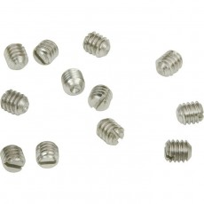 Fender Control Knob Set Screws,  8-32 x 3/16, Nickel, 24