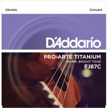D'Addario EJ87C Pro-Arté Titanium Ukulele Strings (.025-.029) Concert