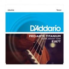 D'Addario EJ87T Pro-Arté Titanium Ukulele Strings (.029-.029) Tenor