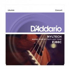 D'Addario EJ88C Pro-Arté Nyltech Ukulele Strings (.024-.026) Concert