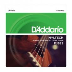 D'Addario EJ88S Pro-Arté Nyltech Ukulele Strings (.024-.026) Soprano