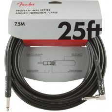 Fender 25' / 7.5m Professional Series Instrument Cable, Straight/Angle, Black