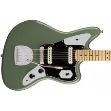 Fender American Pro Jaguar w/ Maple Neck - Antique Olive
