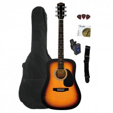 Fender Squier SA-105 Guitar Acoustic Pack - Sunburst